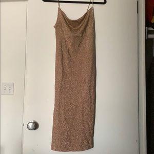 A blush dress